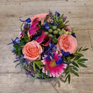 Fleurige bloementaart – middel