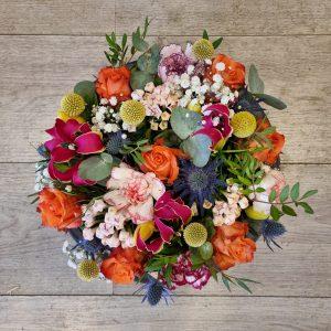 Fleurige bloementaart – groot